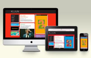 website kluun ontwerp door studio buro | auke wieringa