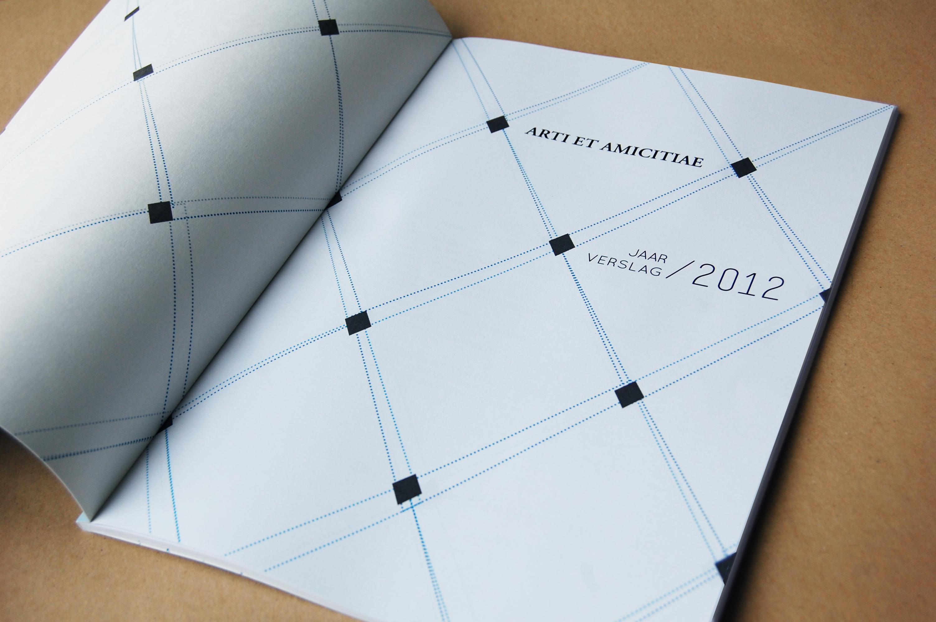 arti et amicitiae jaarverslag grafisch ontwerp studio buro auke wieringa