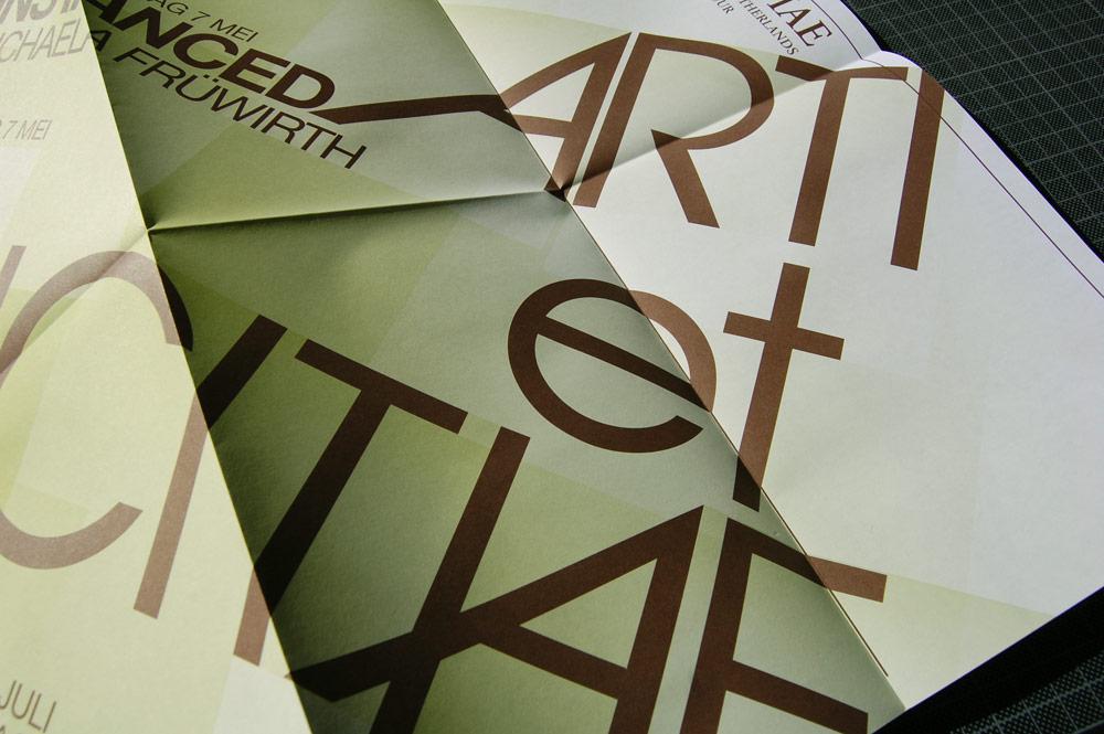 arti et amicitiae maandposters - nieuwsbrief grafisch ontwerp door studio buro - auke wieringa